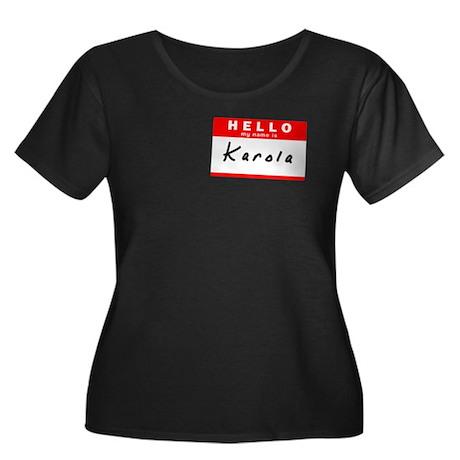 Karola, Name Tag Sticker Women's Plus Size Scoop N