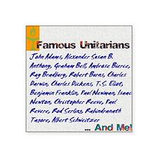 """Unitarian 4 Square Sticker 3"""" x 3"""""""