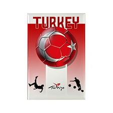 Turkish Football Soccer Rectangle Magnet