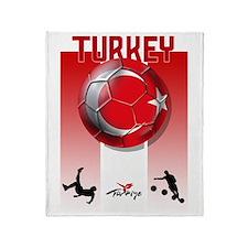Turkish Football Soccer Throw Blanket