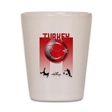 Turkish Football Soccer Shot Glass
