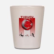 Turkish Football Soccer Shot Glass