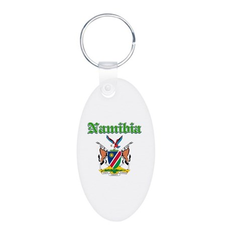 Namibia Designs Aluminum Oval Keychain