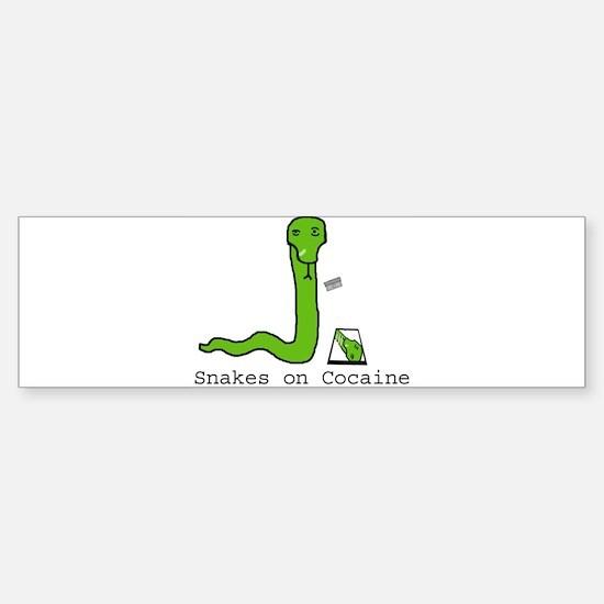 Snakes on Cocaine Bumper Bumper Bumper Sticker