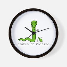 Snakes on Cocaine Wall Clock