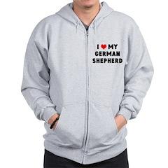 ILOVE MY GERMAN SHEP Zip Hoodie