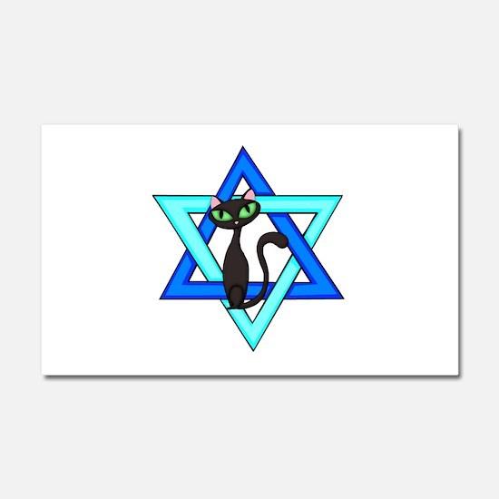 Jewish Cat Stars Car Magnet 20 x 12