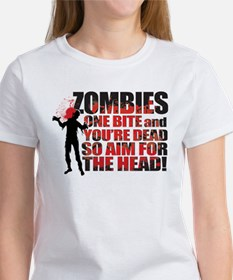 ZOMBIES: ONE BITE AND YOUR DEAD AIM FOR THE HEAD W