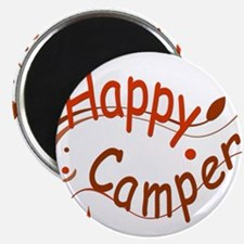 Happy Camper Red Magnets