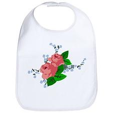 Vintage English Pink Roses Bib