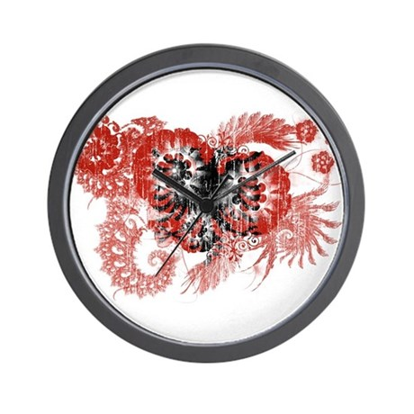 Albania Flag Wall Clock