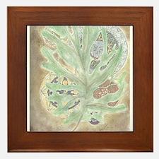 Leaf WIndow Framed Tile