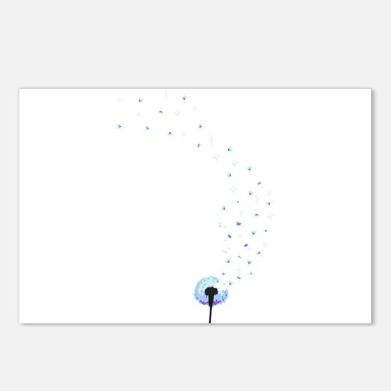 Dandelion seeds blowing in the wind Postcards (Pac