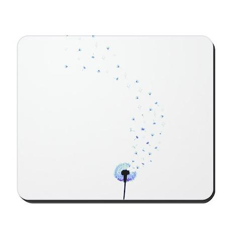 Dandelion seeds blowing in the wind Mousepad