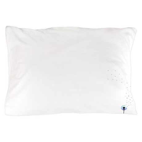 Dandelion seeds blowing in the wind Pillow Case