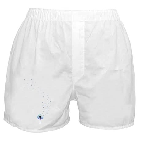 Dandelion seeds blowing in the wind Boxer Shorts