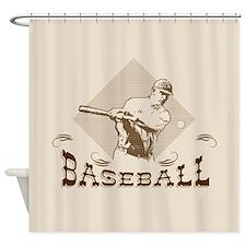 Cute Baseball Shower Curtain