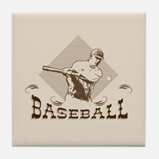 Cute Retro sports Tile Coaster