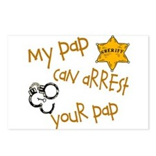 pap arrest pap Postcards (Package of 8)