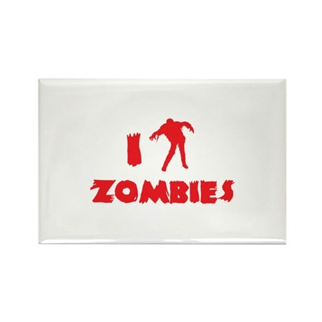 I Love Zombies Rectangle Magnet (100 pack)