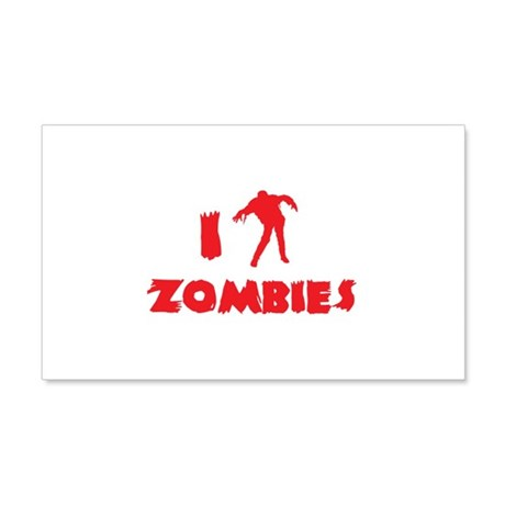I Love Zombies 22x14 Wall Peel