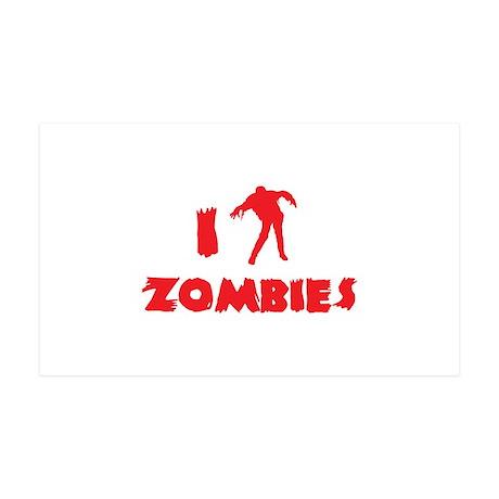 I Love Zombies 38.5 x 24.5 Wall Peel