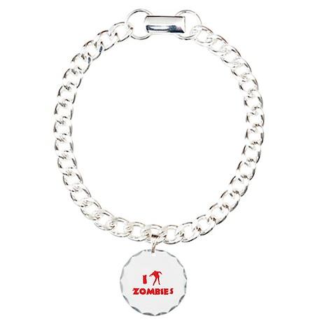 I Love Zombies Charm Bracelet, One Charm