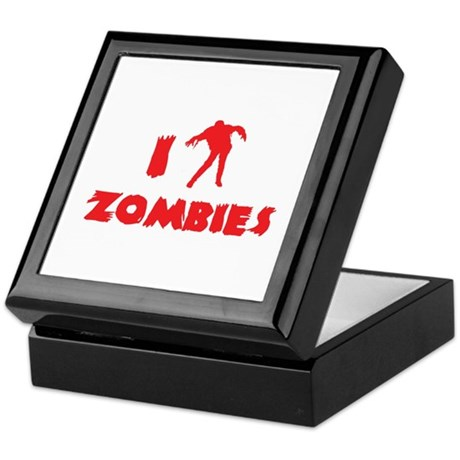 I Love Zombies Keepsake Box