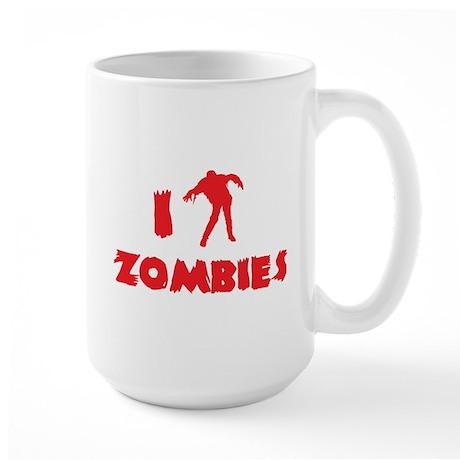 I Love Zombies Large Mug