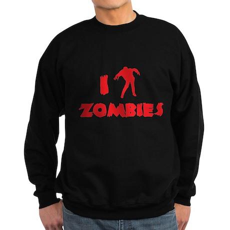 I Love Zombies Sweatshirt (dark)