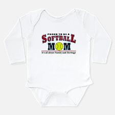 Softball MOM Long Sleeve Infant Bodysuit