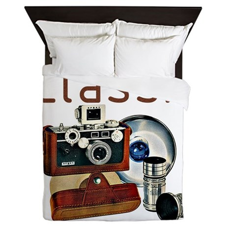 vintage camera-16-4.png Queen Duvet