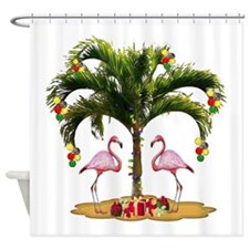 Tropical Holiday Shower Curtain