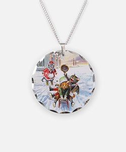 Cats in the Snow Necklace