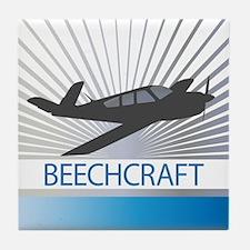Aircraft Beechcraft Tile Coaster