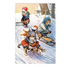 Cats in the Snow Postcards (Package of 8)