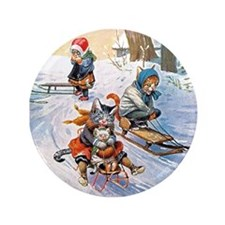 """Cats in the Snow 3.5"""" Button (100 pack)"""