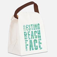 Resting Beach Face Print Canvas Lunch Bag