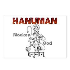 Hindu Hanuman Postcards (Package of 8)