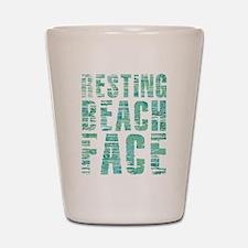 Resting Beach Face Print Shot Glass