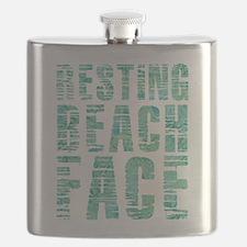 Resting Beach Face Print Flask