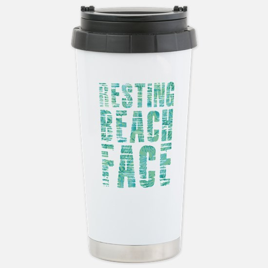 Resting Beach Fac Travel Mug