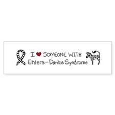 I :heart: Someone With EDS Bumper Sticker
