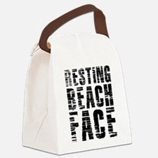 Resting Beach Face Canvas Lunch Bag