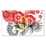 Angola Flag Sticker (Rectangle 50 pk)