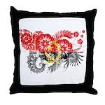 Angola Flag Throw Pillow
