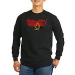 Angola Flag Long Sleeve Dark T-Shirt
