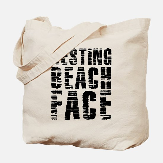 Resting Beach Face Tote Bag