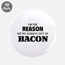 """Bacon 3.5"""" Button (10 pack)"""