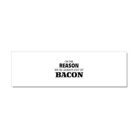 Bacon Car Magnet 10 x 3